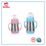 Ampio collo di bottiglia del bambino dell'acciaio inossidabile con Anti Colic capezzoli