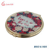 Romantisches Gold Plated Makeup Pocket Mirror für Wedding Gift
