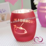 多彩なスプレーの愛提案のギフトセットのためのガラス蝋燭ホールダーの蝋燭のコップ
