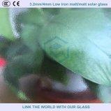 Niedriges Eisen milderte Solarglas mit Matt-/Matt-Beschaffenheits-Ende