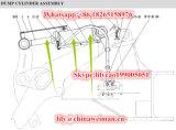 Cilindro Hsgf-190*100*545-1085 4120002264 da inclinação das peças sobresselentes do carregador da roda de Sdlg LG956