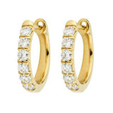 monili di modo 925 orecchini d'argento del cerchio con il diamante