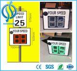 La muestra solar de encargo del límite de velocidad del radar/la muestra del límite de velocidad de Waterprood puede salvar datos