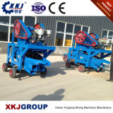 2017 kleine mobile Zerkleinerungsmaschine/mini Kiefer-Zerkleinerungsmaschinen des Dieselmotor-PE250*400 für Goldförderung-Maschine