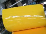 高い光沢のある不透明なPVC黄色シート