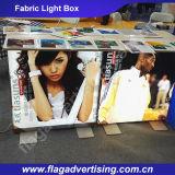 Напольная двухлобная рекламируя коробка ткани СИД светлая