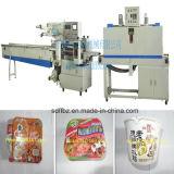 El PLC controla el tipo empaquetadora de la almohadilla automática del encogimiento de los tallarines inmediatos