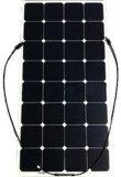 El panel solar semi flexible fino 18V de las células 100watt de Sunpower de la película