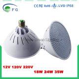 El RGB colorea la lámpara accionada por control remoto cambiante del bulbo del LED E27 PAR56