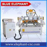 Ele-0809 multi Mittellinie CNC-Fräser der Spindel-4, multi Spindel CNC-Fräser-Dreh4. Mittellinie, automatischer hölzerner schnitzender Fräser CNC-3D für Verkauf