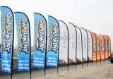 Il colore completo ha stampato la pubblicità della visualizzazione che batte la bandierina pieghevole della spiaggia
