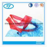Bolsos de basura plásticos del PE con el lazo