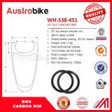 安いカーボンファイバーBMXの自転車の車輪20インチの縁のクリンチャー50mm BMXのバイク3k/12k/Ud