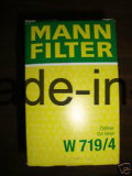 Filtros de óleo Mann W719 / 4 para Audi, BMW, Dodge, Porsche, Volkswagen Automotive; Bobcat, Deutz, Ingersoll-Rand, Vermeer Equipment