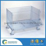 Casella accatastabile della rete metallica del magazzino con resistente