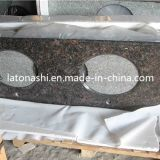 Slab, Countertop, Tombstone, Backsplash를 위한 자연적인 Stone Tan 브라운 Granite