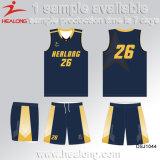 Healongの習慣自由なデザインバスケットボールの均一卸売の最新のチーム均一バスケットボールジャージー
