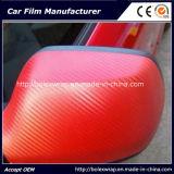 3D стикер винила волокна углерода автомобиля Wrap / автомобиля стикер оранжевый 1,27 * 30м Tr1 без пузырьков бесплатно