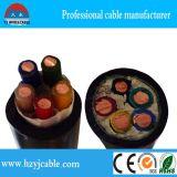 좌초된 구리 XLPE Iusulation 및 PVC 또는 XLPE에 의하여 넣어지는 고압선