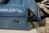 Самомоднейшая кожаный софа для комплектов софы живущий комнаты цветастых кожаный