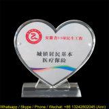 Cartão de exibição de acrílico personalizado em forma de coração
