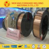 ミグ溶接ワイヤーMIGワイヤー0.8mmの15kg/D270スプールが付いている固体溶接ワイヤの穏やかな鋼鉄溶接ワイヤ