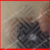 Ti-Goldenes geätztes Spiegel-Blatt des Edelstahl-304