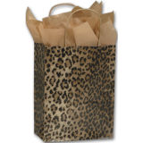 La mode de clients estampée par léopard met en sac des sacs à provisions pour le vêtement