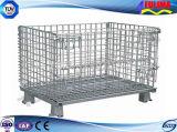産業倉庫ラック(FLM-K-005)のための折りたたみ鋼線の網の容器かケージ