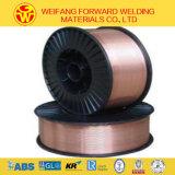 Alambre de soldadura revestido de soldadura del cobre hermético a los gases del alambre