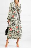 Высокое качество и низкое MOQ Синди напечатали оптовую продажу платья обруча Crepe