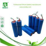 18650 batterie Li-ion de 3.7V 2600mAh avec le PCM