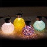 Lanterna di vetro solare saltata mano solare delle decorazioni della Tabella