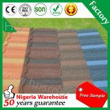 Corrugado Piedra chapa de acero galvanizado recubierto de metal para techos Azulejos suelo de azulejo