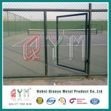 Используемая загородка звена цепи обшивает панелями покрынное /PVC цену загородки звена цепи
