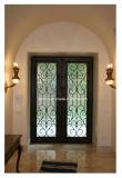 現代および簡単な錬鉄の機密保護のドア