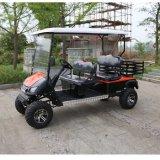 Carrello di golf elettrico di caccia dei 4 passeggeri con il cestino