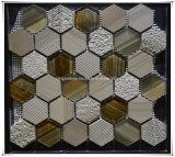 Mosaico di marmo di arte Glass+Marble del mosaico dello specchio del mosaico delle mattonelle di mosaico del rifornimento