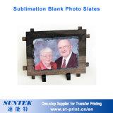 Marco de encargo de la foto de la pizarra de la foto de la piedra del espacio en blanco de la sublimación