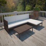 Outdoor&#160のための表とセットされる熱い藤のソファー;