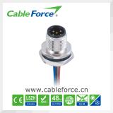 Connecteur mâle de support de panneau de B-Code de Pin M12 5 pour le détecteur avec des fils
