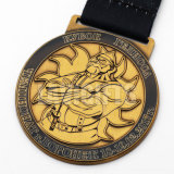 معدنة صغيرة أسلوب تذكار إستعمال أثر قديم نوع ذهب [3د] وسام مع وشاح