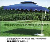 Алюминиевый круглый бортовой зонтик столба