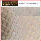 Tela 100% de matéria têxtil gravada do poliéster de veludo (EDM5134)
