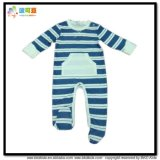 아기를 인쇄하는 줄무늬는 긴 소매 유아 장난꾸러기를 입는다