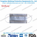 Respirateur particulaire non-tissé remplaçable de 1 pli et masque protecteur médical pour l'hôpital Qk-FM013