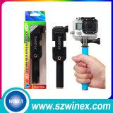 Складывая связанная проволокой ручка Selfie Monopod с зеркалом Rearview