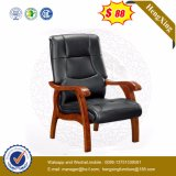 CEO Office Furniture Top Cow Leather Conference cadeira de madeira (Ns-CF008)
