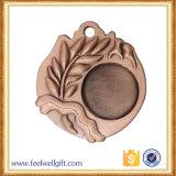 顧客の高品質デザイン青銅のブランクの挿入はメダルを遊ばす