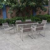 Напольные обедая стул и таблица Aluminumm нержавеющей стали металла мебели установили для трактира